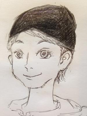 ニット帽のかぶり方(四角顔)