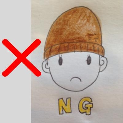 ニット帽のかぶり方NG